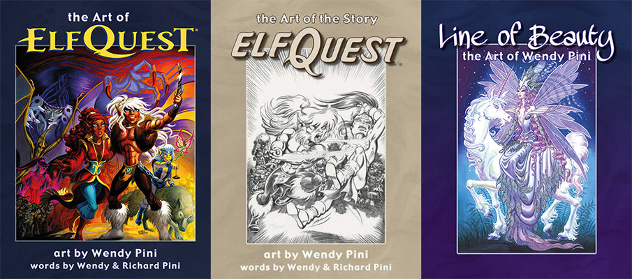 The Art of Elfquest - The Art of the Story - Line of Beauty covers
